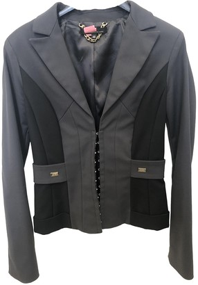 Elisabetta Franchi Anthracite Cotton Jacket for Women