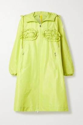 MONCLER GENIUS + 4 Simone Rocha Agatea Hooded Ruffled Shell Jacket - Lime green