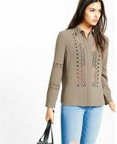 Express laser cut button down shirt