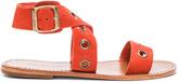Zimmermann Suede Eyelet Flat Sandal