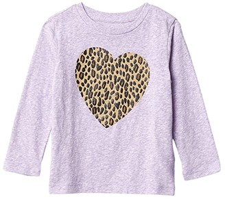 crewcuts by J.Crew Leopard Heart Graphic Tee (Toddler/Little Kids/Big Kids) (Leopard Heart) Girl's Clothing