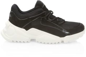 Salvatore Ferragamo Skylar Mixed-Media Leather Sneakers