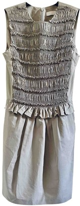 Chloã© ChloA Grey Cotton Dresses