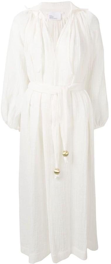Lisa Marie Fernandez long belted tunic dress