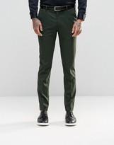 Asos Skinny Suit Trousers In Khaki