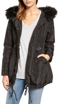 Velvet by Graham & Spencer Women's Hooded Jacket With Removable Faux Fur Trim