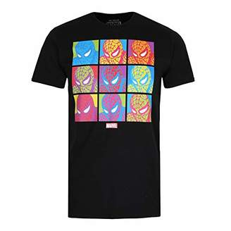 Marvel Men's POP Art Spidey T Shirt XLG,X (Size:)