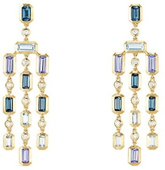 David Yurman Novella Earrings in Hampton Blue Topaz & Tanzanite with Diamonds