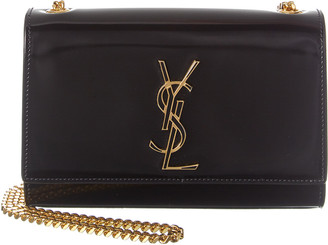 Saint Laurent Small Kate Monogram Patent Shoulder Bag