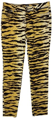 Dolce & Gabbana Gold Cotton Trousers for Women Vintage
