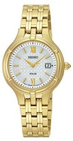 Seiko Quartz and Gold-Tone-Stainless-Steel Dress Watch, Color: (Model: SUT220)