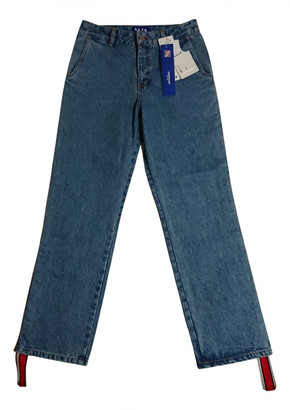 Ader Error Blue Cotton - elasthane Jeans