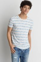 American Eagle Outfitters AE Flex Space Dye Stripe Crew T-Shirt