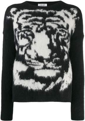 Liu Jo Tiger knit jumper