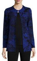 Misook Long-Sleeve Floral-Print Jacket, Petite