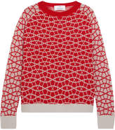 Allude Intarsia Cashmere Sweater - Red