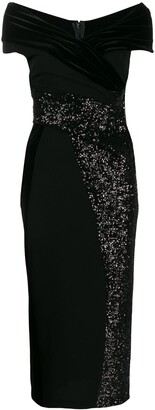 Talbot Runhof Contrast Sequin Dress