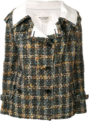 Junya Watanabe Comme Des Garçons Pre Owned 2000 Check Print Double-Breasted Jacket