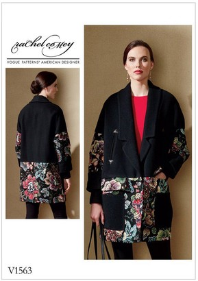 Vogue Contrast Detail Loose Jacket Sewing Pattern, 1563
