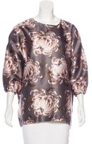 Rochas Oversize Floral Print Top