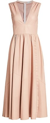 RED Valentino Leather Maxi Dress