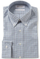 Roundtree & Yorke Gold Label Non-Iron Classic Fitted Twill Checked Dress Shirt