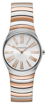 BCBGMAXAZRIA Ladies Round Two Tone Rosegold Stainless Steel Bracelet Watch, 33mm