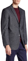 U.S. Polo Assn. Grey Blue Herringbone Two Button Notch Lapel Modern Fit Suit Separates Sports Coat