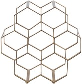 HONEYCOMB finish 7 bottle wine rack