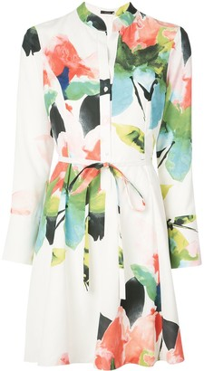 Natori Wrap-Style Printed Dress
