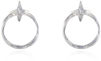 Buff Jewellery Silver Astral Two Way Loop Star Earrings