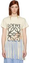 Loewe Beige Fringe T-Shirt