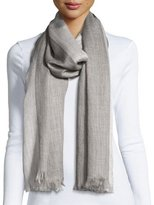 Eileen Fisher Heathered Alpaca-Silk Blend Wrap, Ash