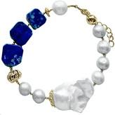 Lapis Farra Baroque Freshwater Pearls & Lazuli Bracelet