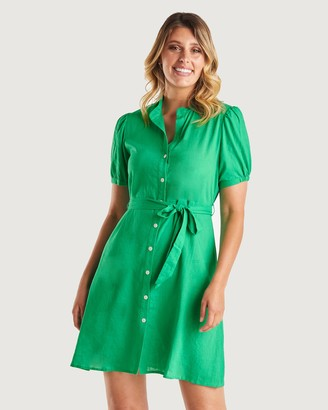 Stella Women's Shirt Dresses - Evergreen Dress - Size One Size, 10 at The Iconic