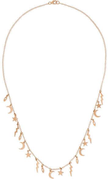 Andrea Fohrman Element 18-karat Rose Gold Diamond Necklace