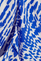 Saloni Nelly printed silk playsuit