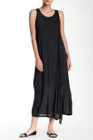 Kensie Fringe Trim Maxi Dress