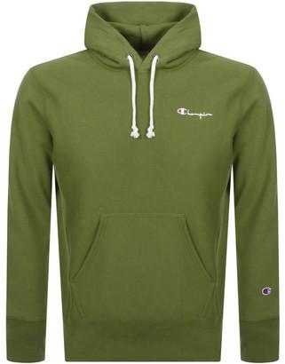Champion Logo Hoodie Green