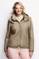 Classic Women's Plus Size Quilted Primaloft Jacket-Sisal