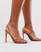 Design DESIGN Notorious strappy heeled sandals in orange
