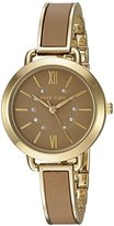 Anne Klein Women's Quartz Metal and Alloy Dress Watch, Color:Brown (Model: AK/2436TNGB)