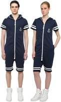 One Piece Onepiece Naval French Terry Cotton Jumpsuit