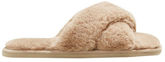 Seed Heritage Cross Over Slipper Taupe