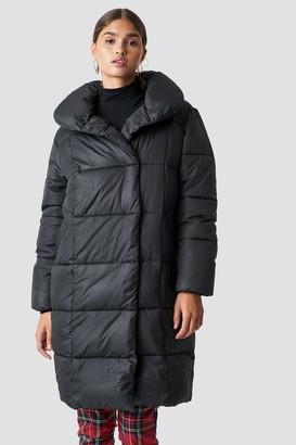 NA-KD Padded Shawl Collar Jacket Black