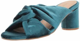 Kaanas Women's Edinburgh Knotted Open Toe Slide Chunky Heel Pump