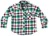 Something Strong Blue Plaid Flannel Button-Up - Boys
