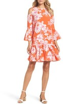 Eliza J Women's Cold Shoulder Bell Sleeve Dress