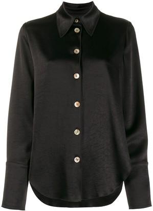 Nanushka Button-Down Long Sleeve Blouse
