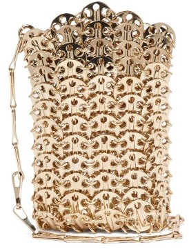 Paco Rabanne Iconic Mini 1969 Chain Cross-body Bag - Gold